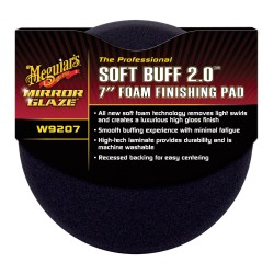 "Meguiar's W9207 Mirror Glaze Professional Soft Buff 2.0 7"" Foam Finishing Pad"
